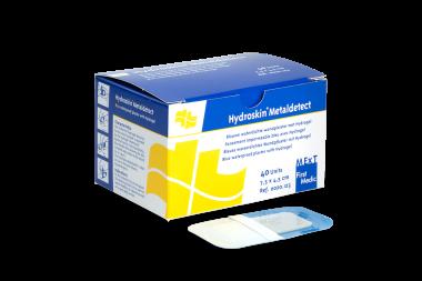 Hydroskin Metaldetect, pansement imperméable bleu avec Hydrogel