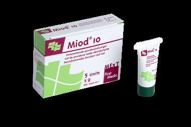 Miod 10, gel de povidone iodée désinfectante