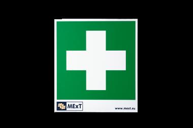 Signalisation autocollante vinyle - croix premiers soins